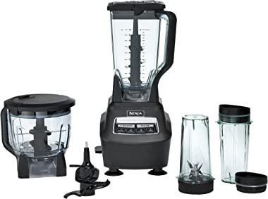 Ninja Mega Kitchen System (BL770) Blender/Food Processor with 1500W Auto-iQ Base, 72oz Pitcher, 64oz Processor Bowl, (2) 16oz