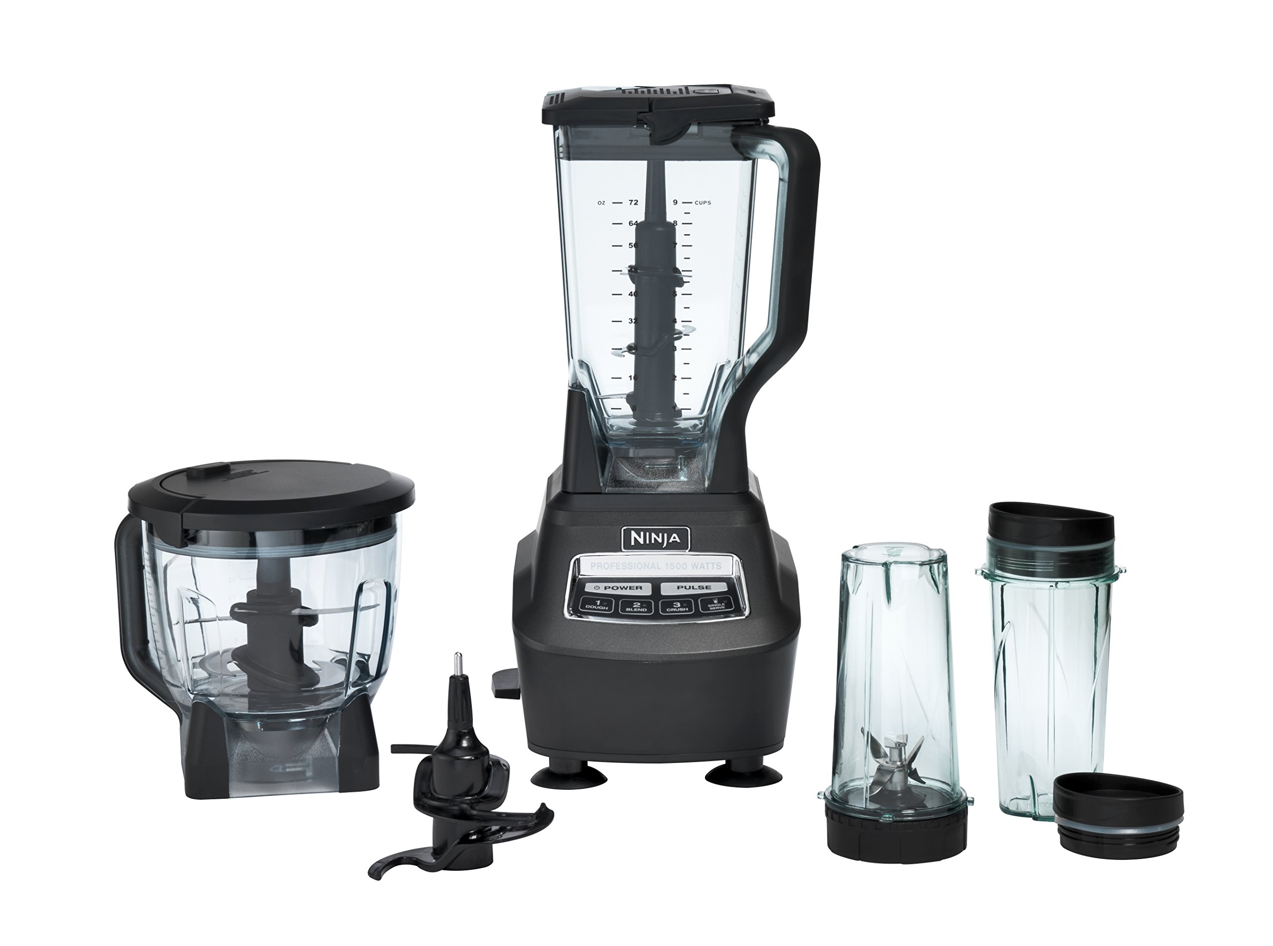 Ninja Mega Kitchen System Bl770 Blender Food Processor With 1500w Auto Iq Base 72oz Pitcher 64oz Processor Bowl 2 16oz Cup For Smoothies Dough More Amazon Sg Home