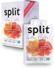 Split Nutrition Peanut Butter and Strawberry Squeeze Packs, Gluten-free, Pantry Snack, Non-GMO, Real Food, Made with Zero ...