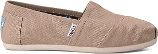 TOMS Classic Light Grey White Womens Canvas Espadrille Shoes Slipons