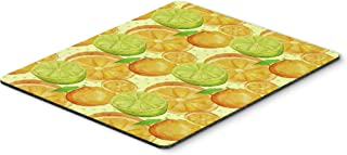 Caroline's Treasures BB7517MP Watercolor Limes and Oranges Citrus Mouse Pad, Hot Pad or Trivet, Large, Multicolor