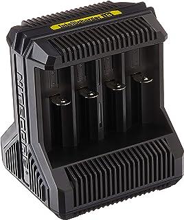 Nitecore i8-8-Schacht-oplader voor Li-Ion, NiMH en NiCd batterijen, zwart, S