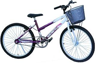 Bicicleta aro 24 wendy fem sem marcha convencional violeta