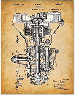Henry Ford Auto Transmission - 11x14 Unframed Patent Print - Makes a Great Gift Under $15 for Auto Mechanics or Garage Decor