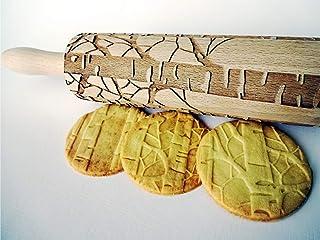 BIRKE Nudelholz Prägen Teigroller für hausgemachtes Gebäck. für Keramik von Algis Crafts