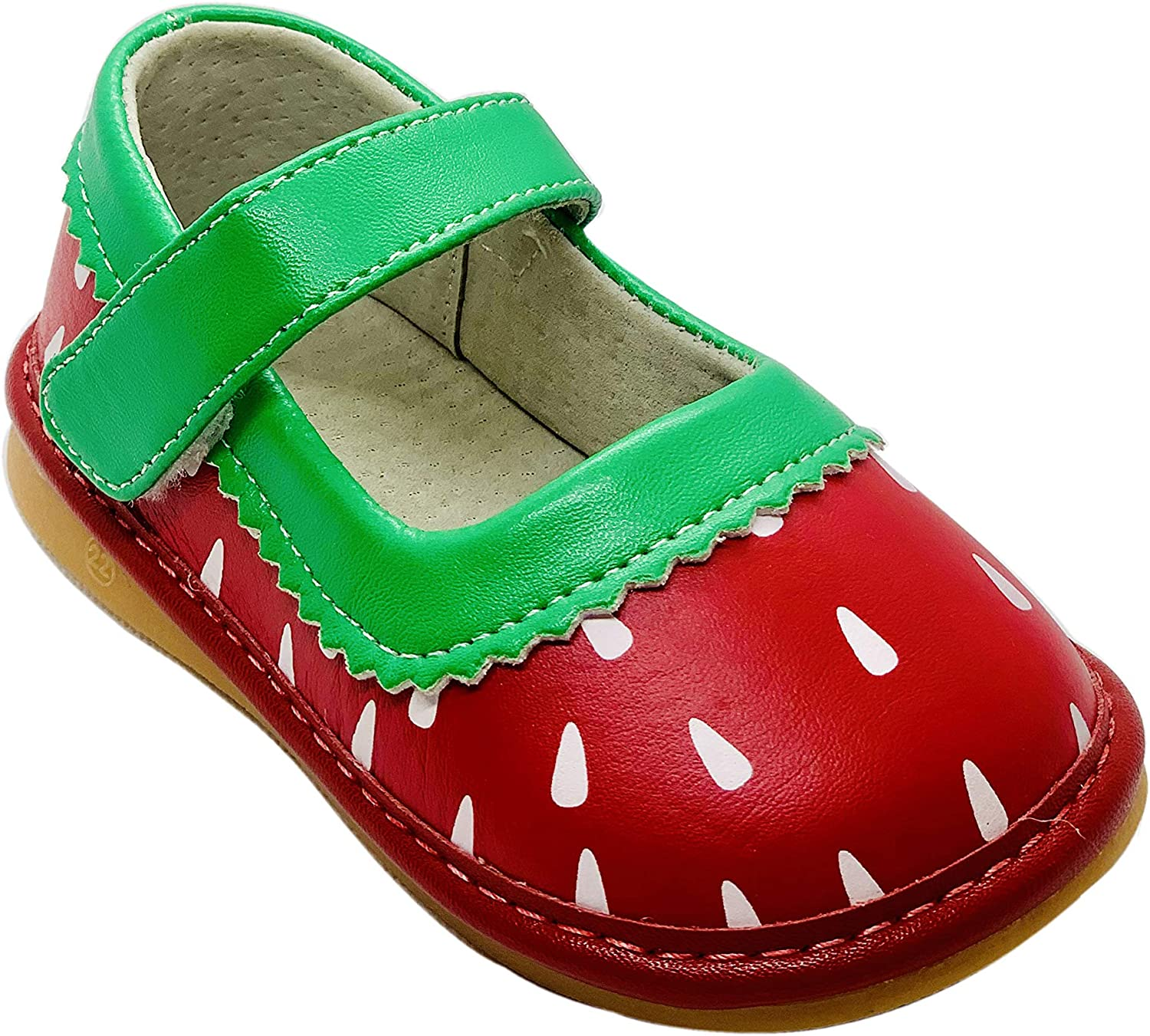 Salini Strawberry Squeaky Shoes for Toddlers with Removable Squeaker