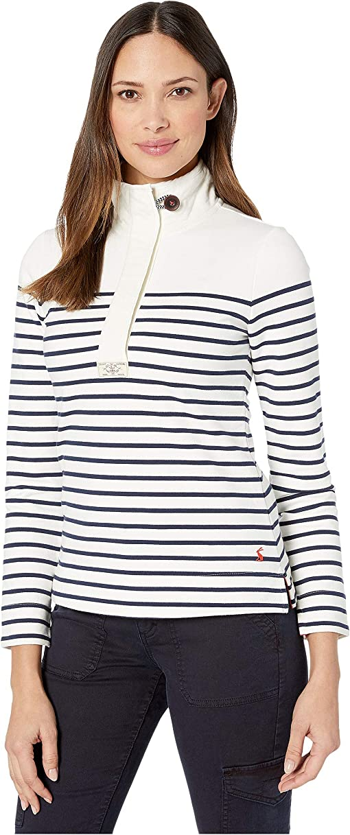Cream Navy Stripe