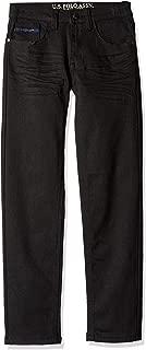 U.S. POLO ASSN. Big Boys' Straight Leg Jean, Flex Denim Dark Black Wash, 10