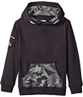 Lucky Brand Kids - Long Sleeve Cross Neck Hoodie (Little Kids/Big Kids)