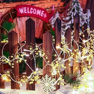 Mudder 20 Feet Christmas LED String Lights Xmas Tree String Lights 60 LED Indoor String Lights Battery Operated Christmas ...