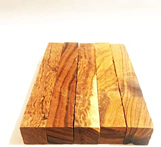 Exotic Ironwood Pen Blanks from The Sonoran Desert. (Set of 5) Dimensions 6 3/8 x 7/8 x 7/8 in. by IECAP LLC