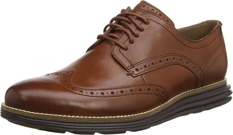 Cole Haan Men's Original Grand Wingtip Oxford, Brown (Woodbury Leather/Java)