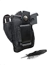 Feather Lite Fits Jimenez Arms JA-25, JA-22 L.R. JA-380 with Laser Soft Nylon Inside or Outside The Pants Gun Holster.