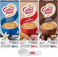 Nestle Coffee Mate Liquid Coffee Creamer Singles Variety Pack, Original, French Vanilla, Cafe Mocha, 50 Ct Box (Pack of 3)...