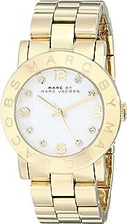 ساعة امي للنساء من مارك باي مارك جايكوب مينا ابيض سوار من الستانلس ستيل - MBM3056