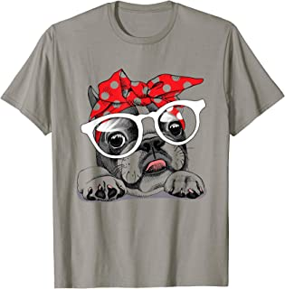 French Bulldog in a headband and with glasses T-Shirt