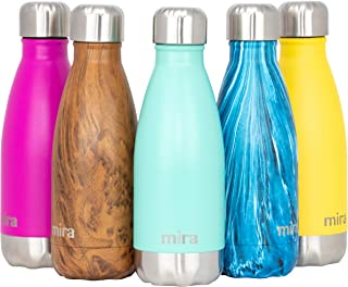 MIRA 12 oz Stainless Steel Vacuum Insulated Water Bottle | Double Walled Cola Shape Thermos | Keeps 24 Hours Cold, 12 Hour...