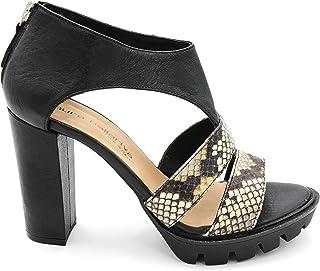 1dcfc788155 Laura Bellarva 0000570 - Sandalias para Mujer, Color Negro y pitón Negro  Size: 37