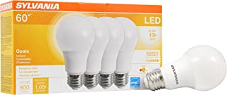 SYLVANIA General Lighting 78036 Sylvania Dimmable Led Light Bulb, 9 W, 120 V, 800 Lumens, 2700 K, CRI 80, 2.375 in Dia X 4.19 in L, 4 Pack, Soft White 2700K, 4 Pack