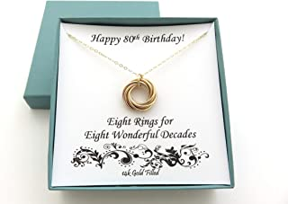 80th birthday necklace