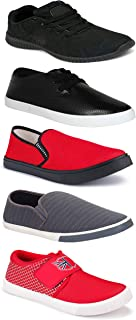 WORLD WEAR FOOTWEAR Sports Running Shoes/Casual/Sneakers/Loafers Shoes for MenMulticolors (Combo-(5)-1219-1221-1140-748-1018)