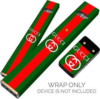 Original Skin Decal for PAX JUUL (Wrap Only, Device Is Not Included) - Protective Sticker (Gucci Green And Red)