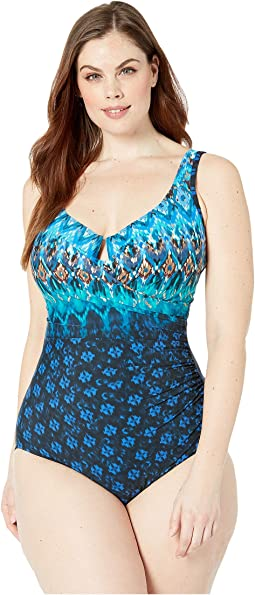 Plus Size Sunset Cay Escape One-Piece