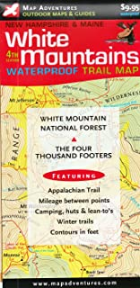 White Mountains Trail Map: New Hampshire & Maine