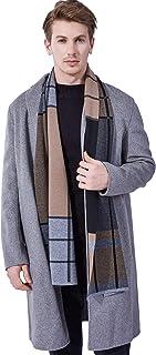KUMONE Men Winter Cashmere Scarf Wool Scarves, Elegant Gift