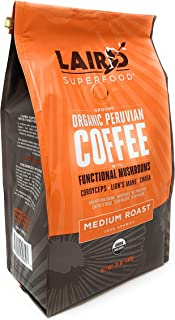 Laird Superfood Organic Peruvian Coffee with Functional Mushrooms (24oz. Ground)