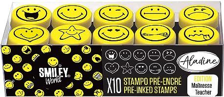 Aladine Smiley Stampo Easy, Colore Nero/Giallo, ALD-E26
