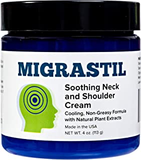 Migrastil Relief Cream (4oz) - Powerful Topical Cream for Migraines, Tension Headaches and Muscle Pain in Neck & Shoulders...