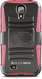 Galaxy S4 Case, BUDDIBOX [HSeries] Heavy Duty Swivel Belt Clip Holster with Kickstand Maximal Protection Case for Samsung Galaxy S4, (Pink)