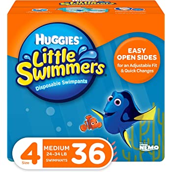 Huggies Little Swimmers Swim Diapers, Size 4 Medium, 36 Count (Packaging May Vary)