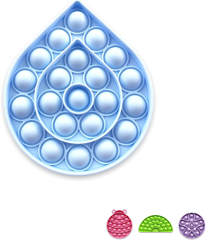 Purple Flower, Pink Ladybug UGE Pack of 2 Pop It Fidget Sensory Toys Stress Relief