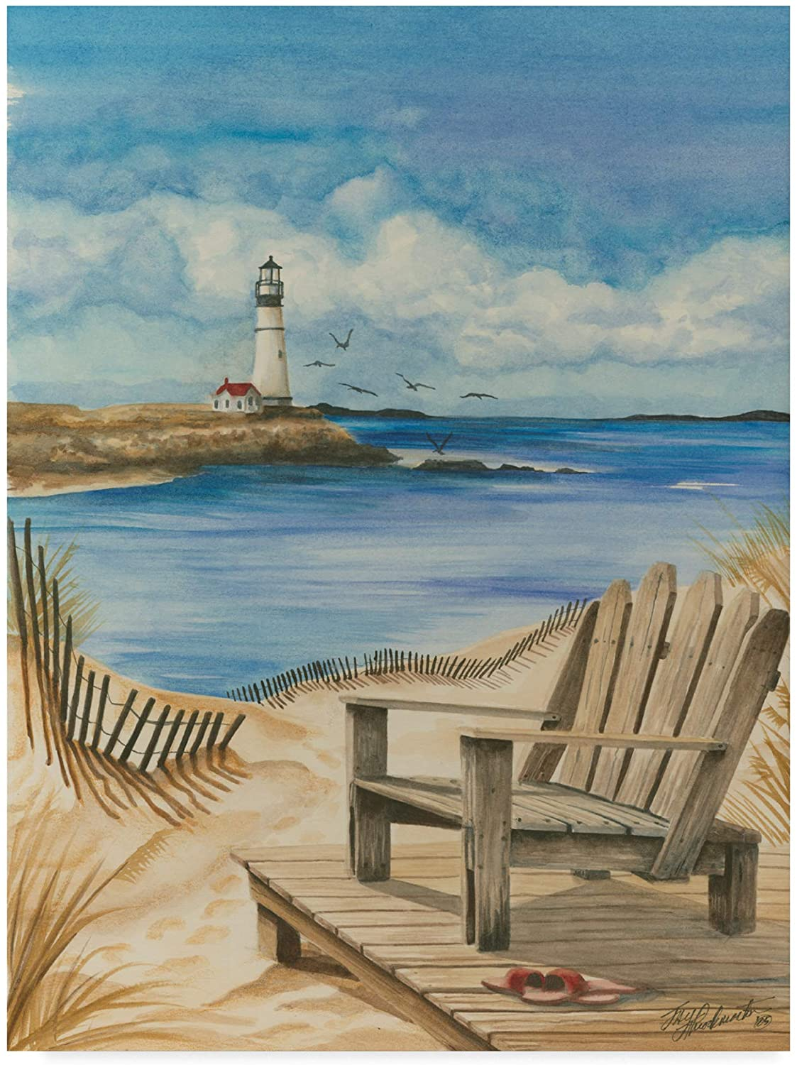Trademark Fine Art Lighthouse View I Art by Jay Throckmorton, 14x19