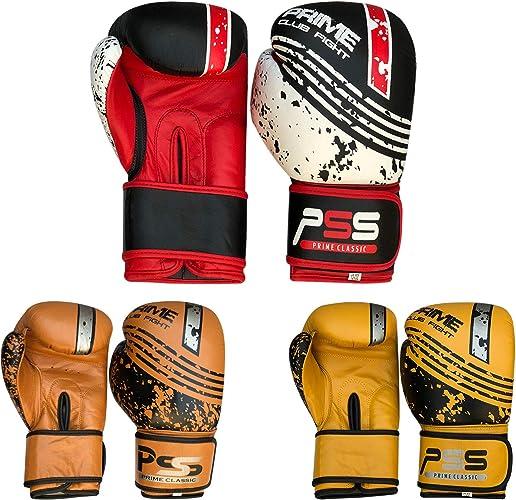 Prime Gants de boxe en cuir véritable Sac de frappe de boxe Formation Gant de toilette Kick lutte pour Adulte Tailles 1051–1053