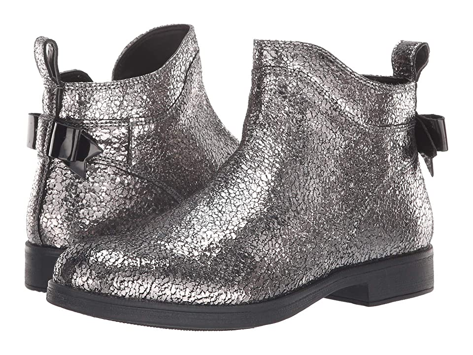 Geox Kids Agata 24 (Big Kid) (Dark Silver) Girl