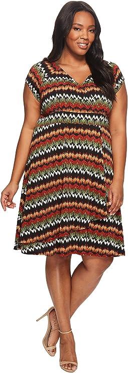Plus Size Cascade Drape Dress