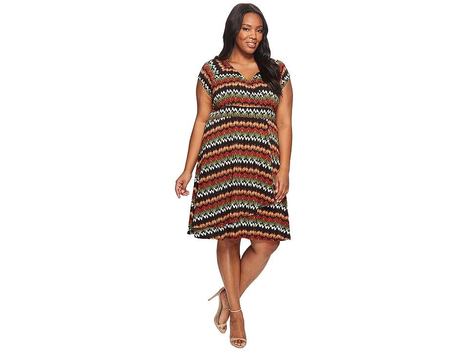 38e782a912e Karen Kane Plus Plus Size Cascade Drape Dress (Print) Women