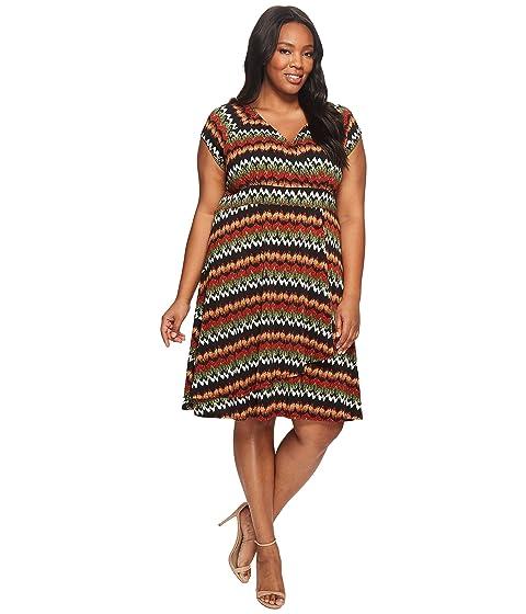fab96a09066f6 Karen Kane Plus Plus Size Cascade Drape Dress at 6pm