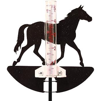 SWEN Products U of Wyoming Cowboys Cowgirls Bucking Horse Rain Gauge