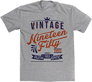 Men's Authentic 1953 Vintage Year 62nd Birthday Date T-shirt