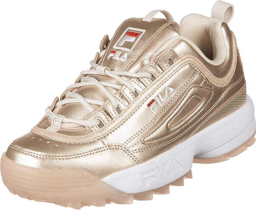 Fila disruptor m low w scarpa sneaker casual da donna in pelle 158393