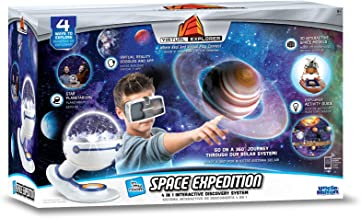 Virtual Explorer Space Expedition 4-in-1 VR, AR, hands-on play and learning system with Star Planetarium, VR Goggles and App, Augmented Reality cards and Explorer Guide