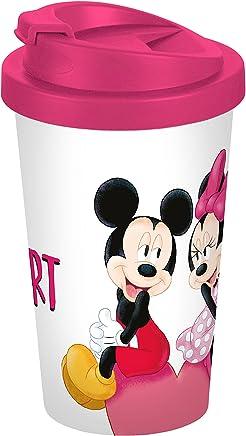 Preisvergleich für Disney Mickey Mouse Mickey My Heart 400ml Coffee to go Becher, Kunststoff, Weiß-bunt 9 x 9 x 16,5 cm