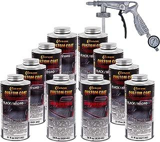 Custom Coat BLACK 1.75 Gallons Urethane Spray-On Truck Bed Liner Kit with (FREE) Custom Coat Spray Gun with Regulator