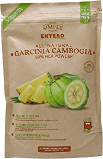 Simple y Entero Garcinia Cambogia, 80% HCA Powder, Natural Supplement to Develop a Healthy Weight, GMP Certified, Vegan, N...