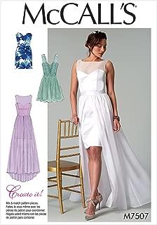 MCCALLS M7507 MIX MATCH SWEETHEART DRESSES SIZE 6-14 SEWING PATTERN