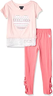 Girls' Little 3 Piece Tunic, Jersey Tank, and Pull-on...